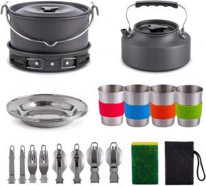 camping cookware set for family camping