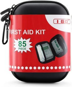 85-piece first aid kit is essential for beach camping