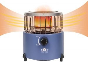 portable propane heater and stove for tent camping outdoors