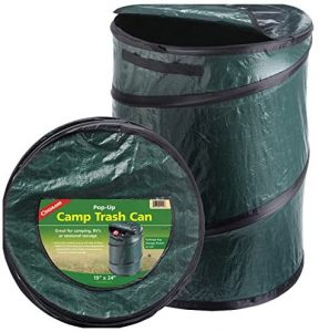 pop up trash can for rv camping or outdoor use
