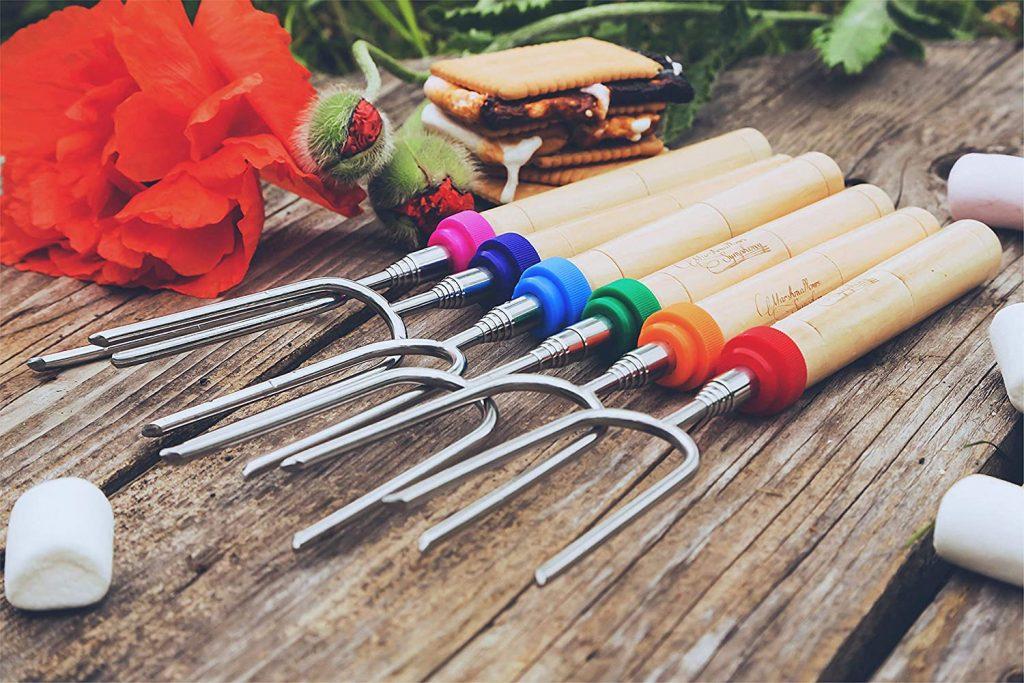 telescopic roasting sticks for family camping