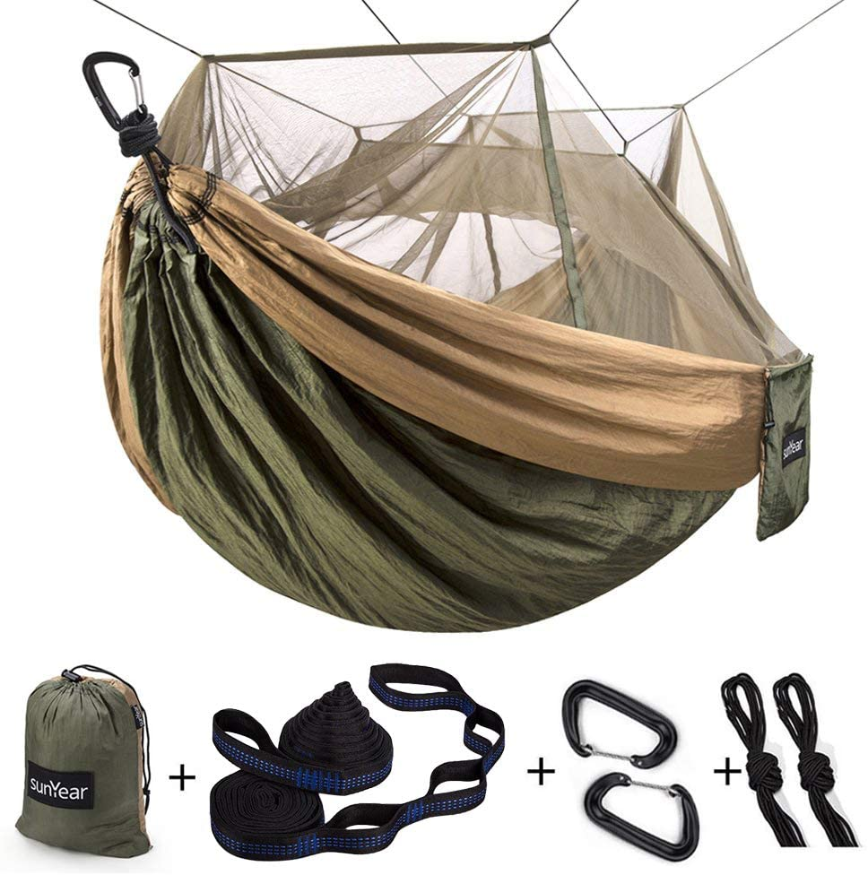 single and double hammock for outdoor camping
