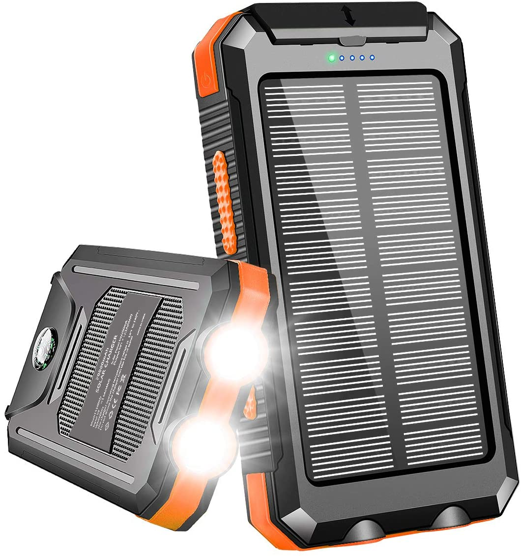 solar charger for camping outdoors and working outside