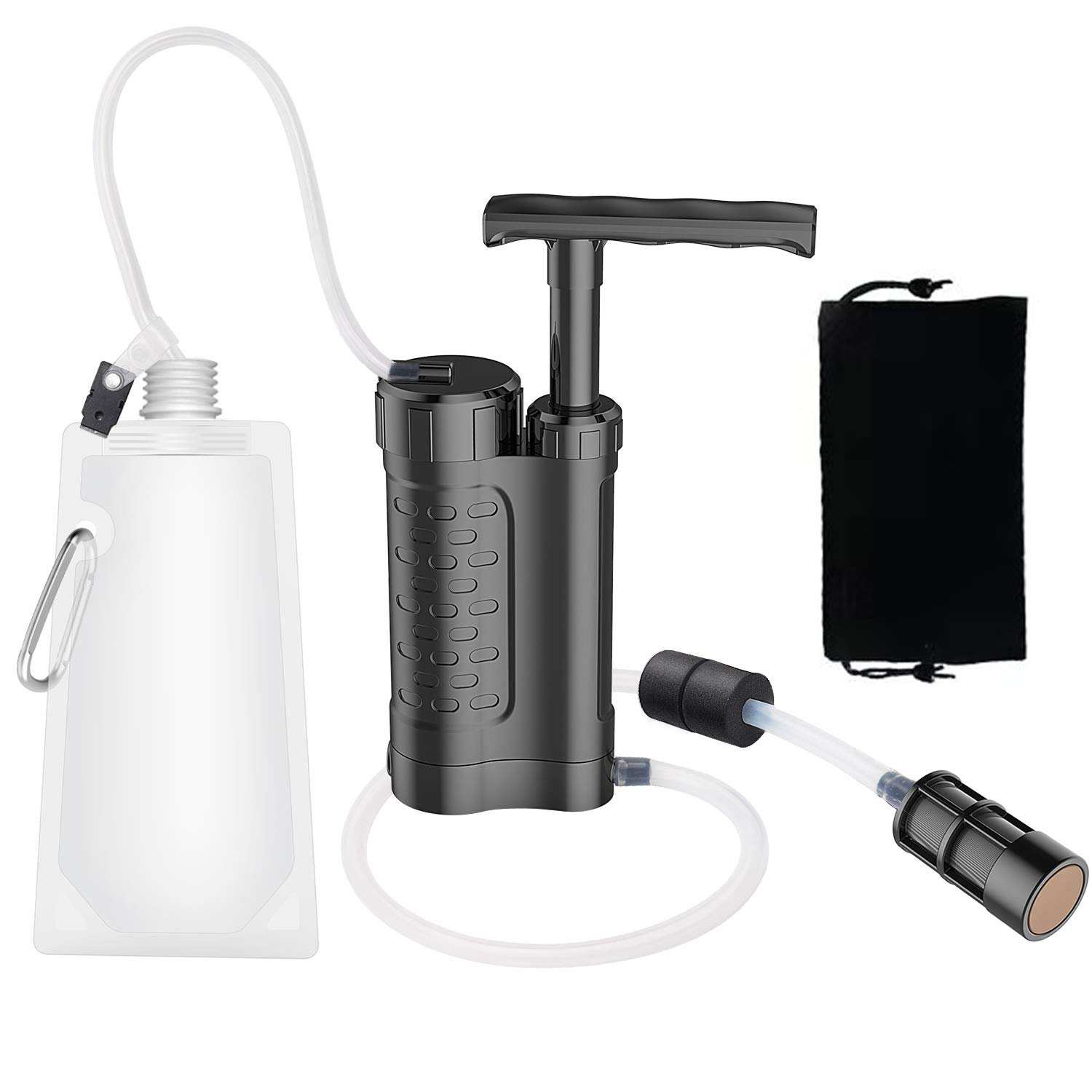 water pump and filter for outdoor camping