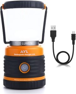 the 1800 lumen led camping lantern also charges small devices