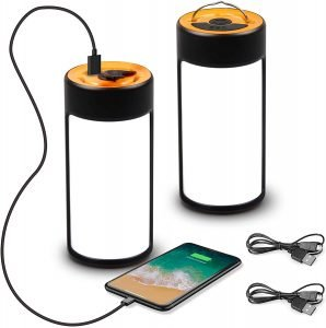 the capetronix rechargable led camping lantern can also be used to charge small devices