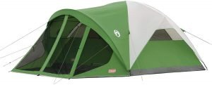 the coleman dome tent with screen room is one of the best tents for camping