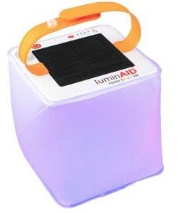 the luminaid nova led camping light is a solar powered camping lantern