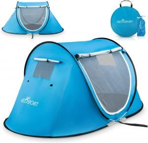 the portable cabana beach tent is one of the best tents for camping