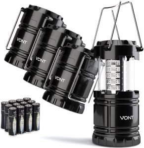 the cont 4 pack led camping lantern is a great option for camping lanterns on a budget