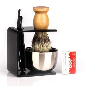 traditional straight razor shaving kit