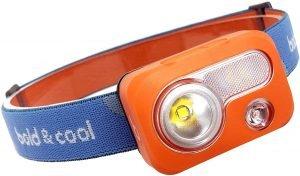 the bold cool nova headlamp has 6 light modes and makes a great sos distress signal