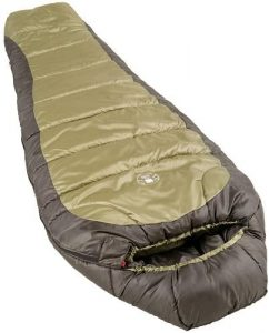 the Coleman mummy sleeping bag is one of the bst sleeping bags for camping