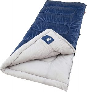 the Coleman Brazos sleeping bag is one of the bst sleeping bags for camping