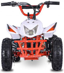 The Fit Right 2020 Titan Kids 24V Mini Quad ATV, Dirt Motor Electric Four Wheeler