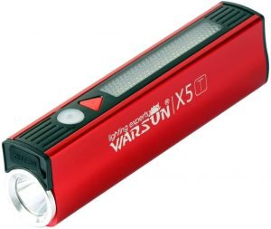 the WARSUN rechargable and portable LED flashlight comes with an excellent sos distress alarm and led sos distress signal