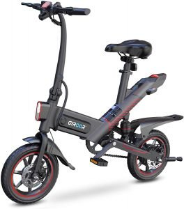 the gyroor 450w ebike is a neat little electric bike for commuting around town