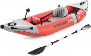 the intex excursion pro series is one of the most popular and best inflatable kayaks available on the market
