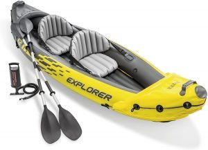 the intex explorer k-2 is one of the most popular and best inflatable kayaks available on the market