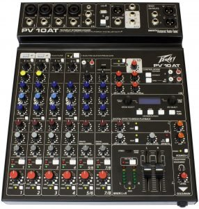 the peavey 10 channel compact mixer is one of the best dj mixing boards available on the market