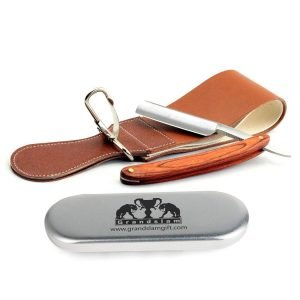 Pro Natural Wooden Handle 420 Stainless Steel Straight Razor