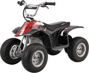 The Razor Dirt Quad - 24V Electric 4-Wheeler ATV - Twist-Grip Variable-Speed Acceleration Control, Hand-Operated Disc Brake