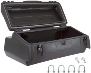 the black widow atv rear storage box is one of the best and most popular atv rear storage options available