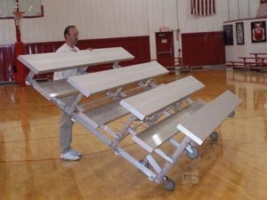 the gared tip n roll portable bleachers are some of the best portable bleachers available