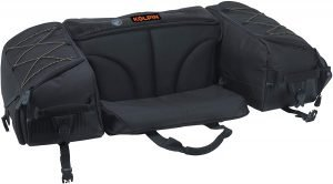 the kolpin atv rear storage seat bag is one of the best and most popular atv rear storage options available