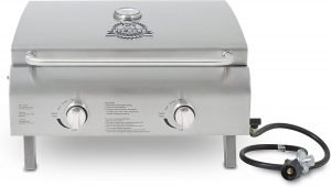 the pit boss two-burner portable grill is one of the best portable grills available
