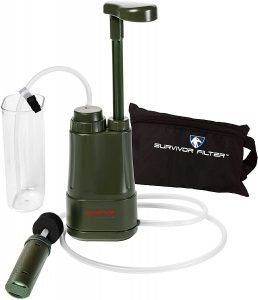 the survivor pro portable water filter is one of the best portable water filters available