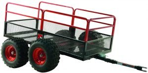 the yutrax trail warrior atv cart is one of the most popular atv utility carts available